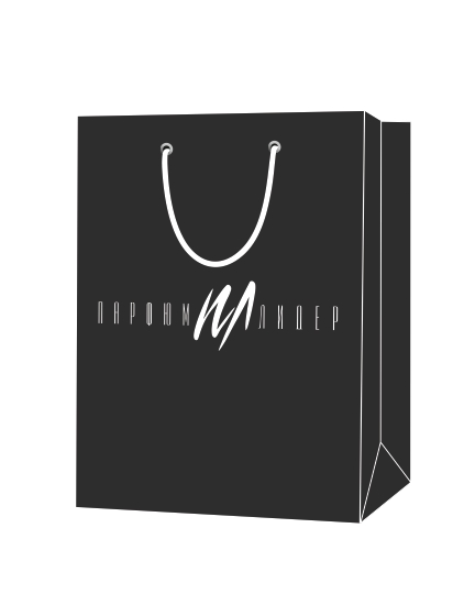 """Пакет подарочный, бумажный, 24*30, 200 гр.,с люверсами, ручка шнур, с логотипом """"Парфюм Лидер"""", Омск"""