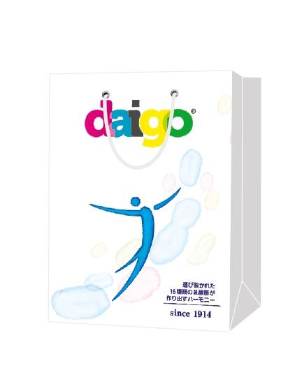 """Пакет подарочный, бумажный, 23*32, 200 гр.,с люверсами, ручка шнур, с логотипом """"daigo"""", Санкт-Петербург"""
