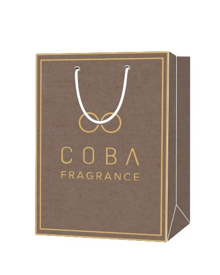 """Пакет подарочный, бумажный, 25*29, 200 гр.,с люверсами, ручка шнур, с логотипом """"COBЛ"""", Москва"""