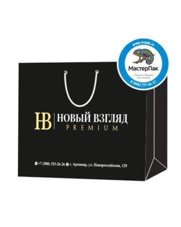 Пакет подарочный, бумажный, 35*25, 200 гр.,с люверсами, ручка шнур, с логотипом Новый Взгляд, Армавир