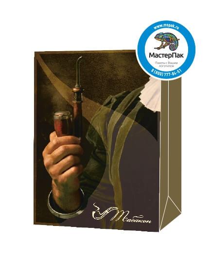 Пакет подарочный, бумажный, 30*40, 200 гр.,с люверсами, ручка шнур, с логотипом Табакон, Санкт-Петербург